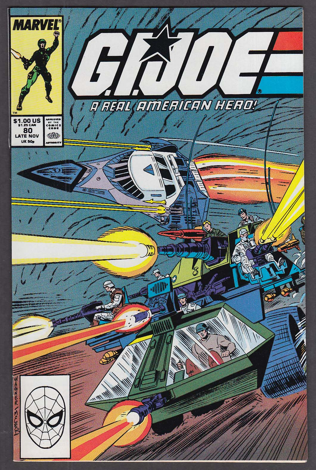 GI JOE #80 Marvel comic book 11 1988
