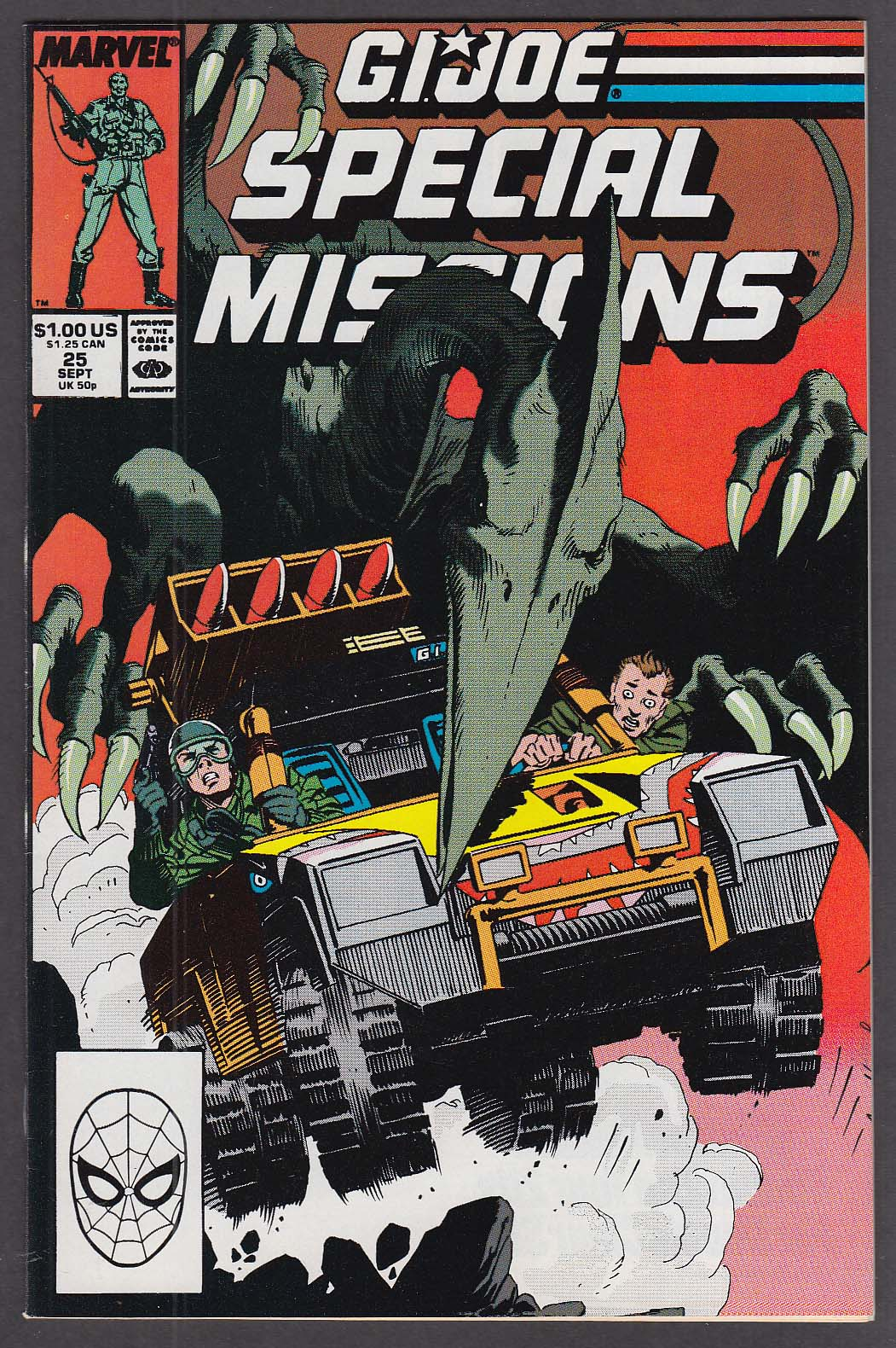 GI JOE SPECIAL MISSIONS #25 Marvel comic book 9 1989