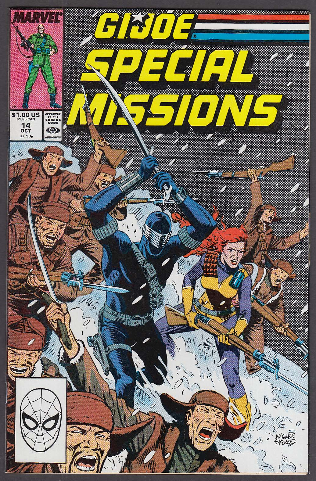 GI JOE SPECIAL MISSIONS #14 Marvel comic book 10 1988