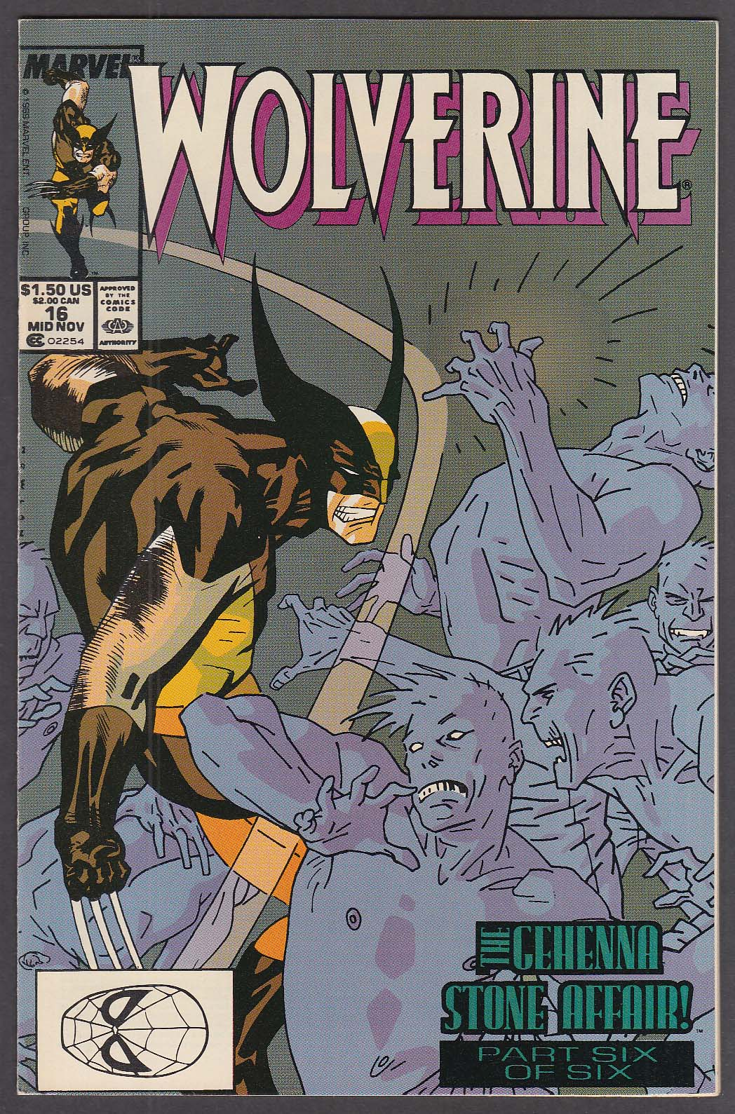 WOLVERINE #16 Marvel comic book 11 1989