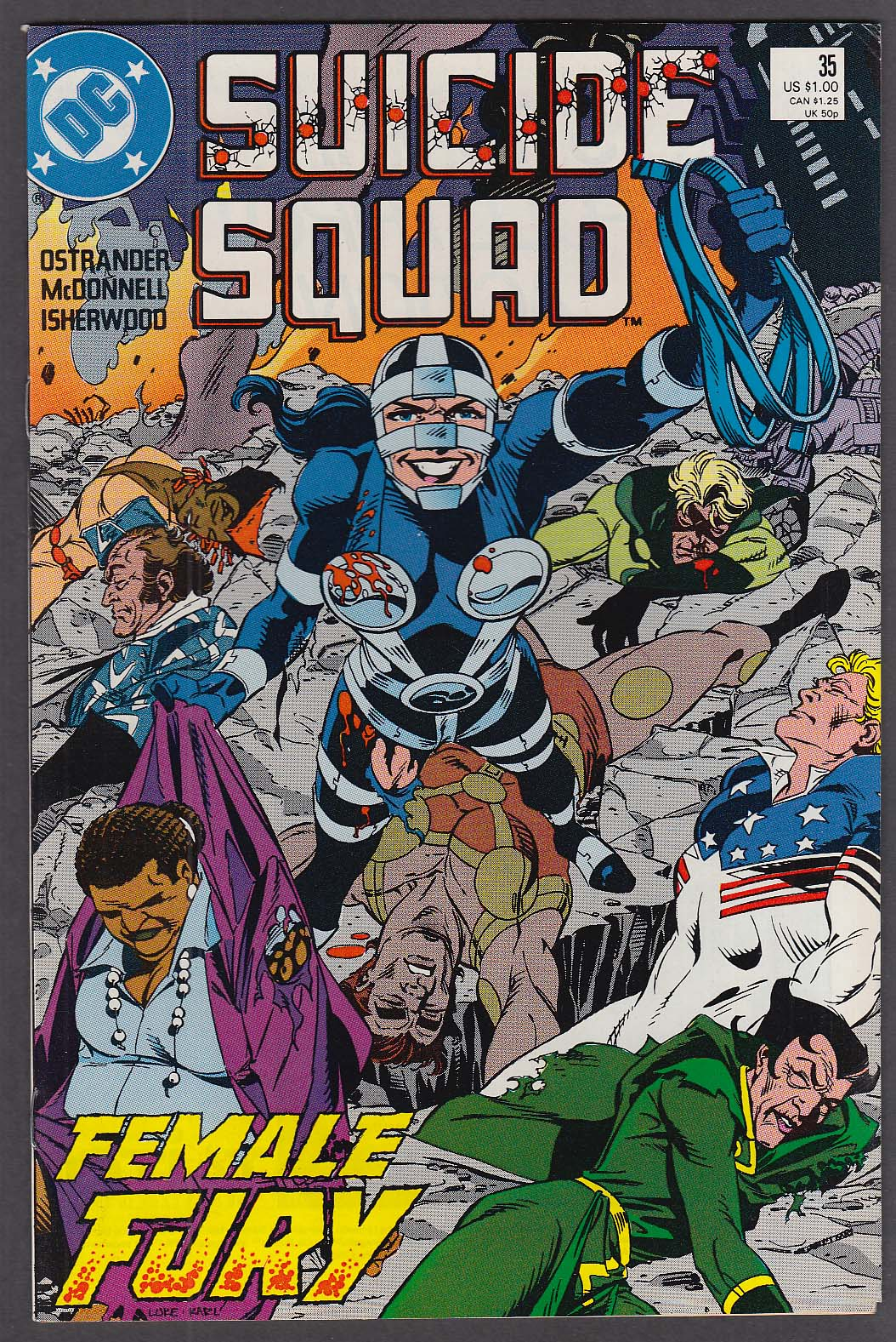 SUICIDE SQUAD #25 DC comic book 1989 Female Fury