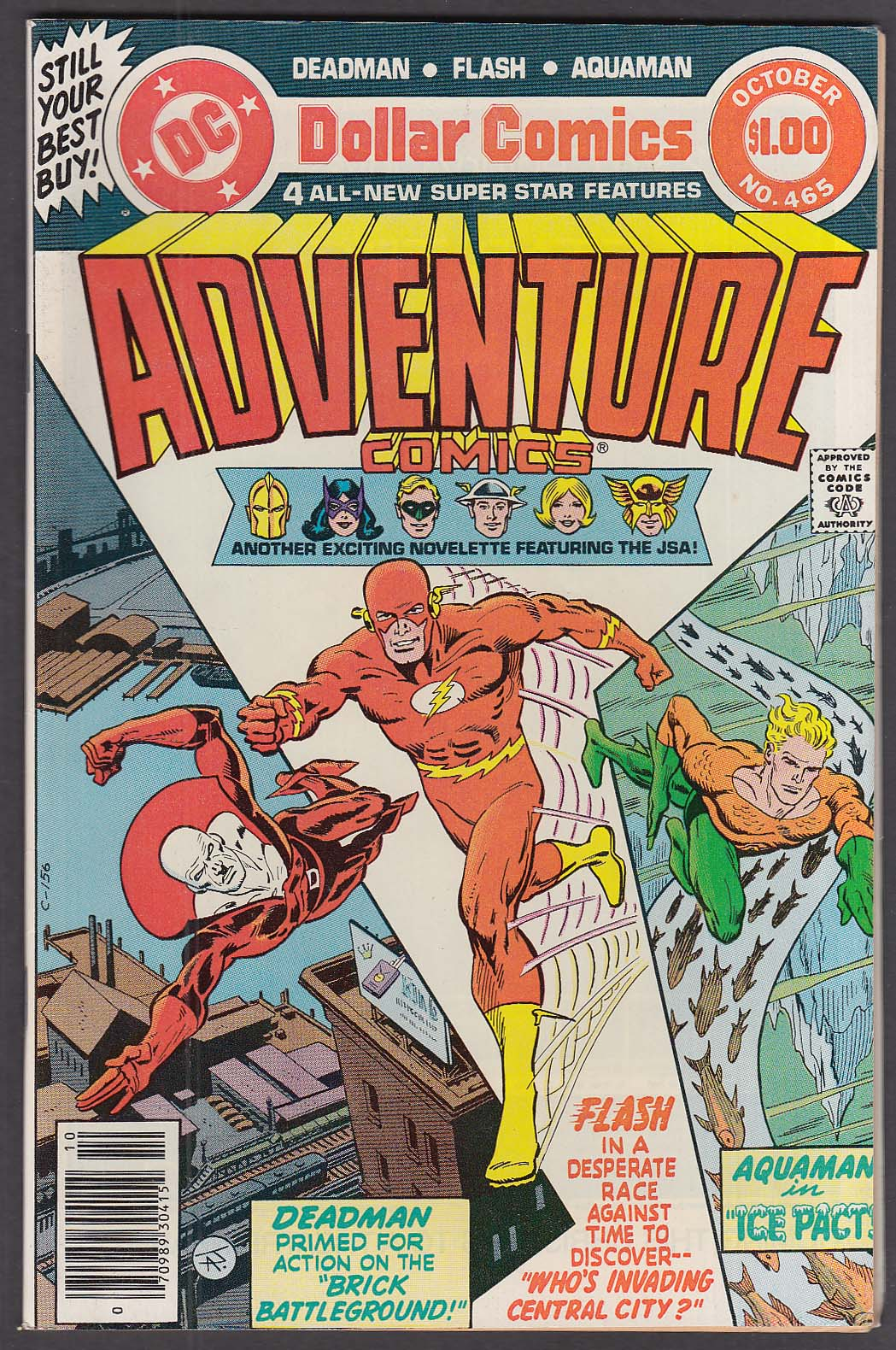 ADVENTURE COMICS #465 DC comic book 10 1979 Deadman Flash Aquaman