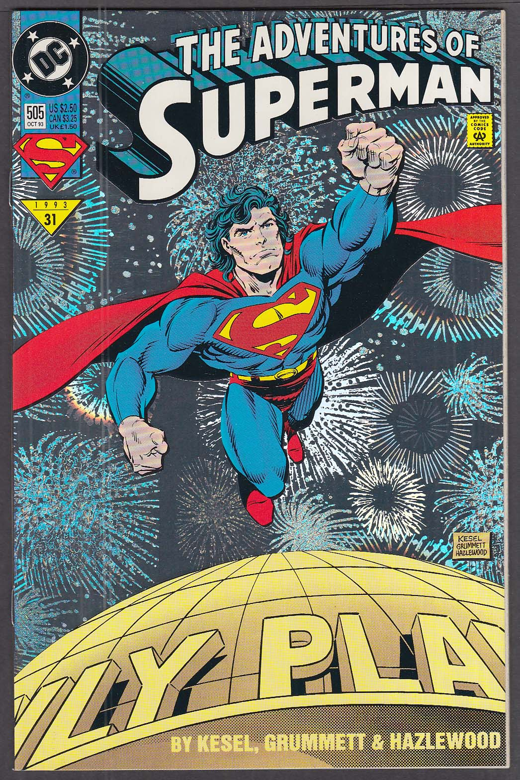 ADVENTURES of SUPERMAN #505 DC comic book 10 1993