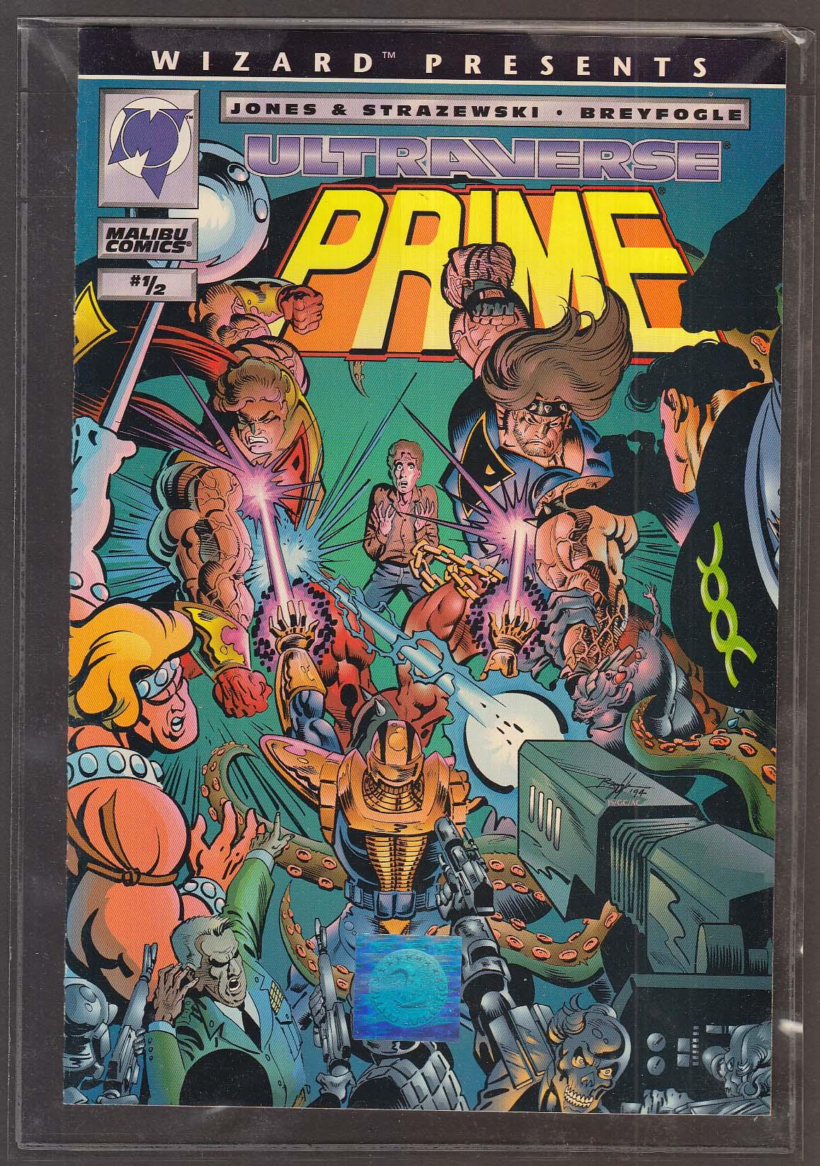ULTRAVERSE PRIME #1/2 Malibu comic book 5 1994 1st Printing bagged + COA