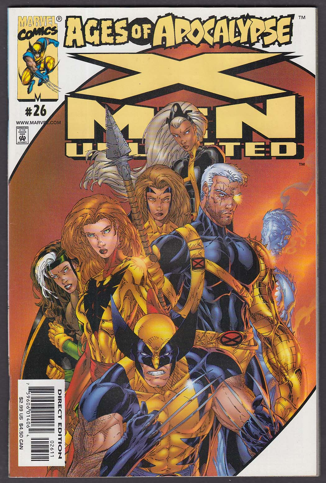 X-MEN UNLIMITED #26 Marvel comic book 3 2000