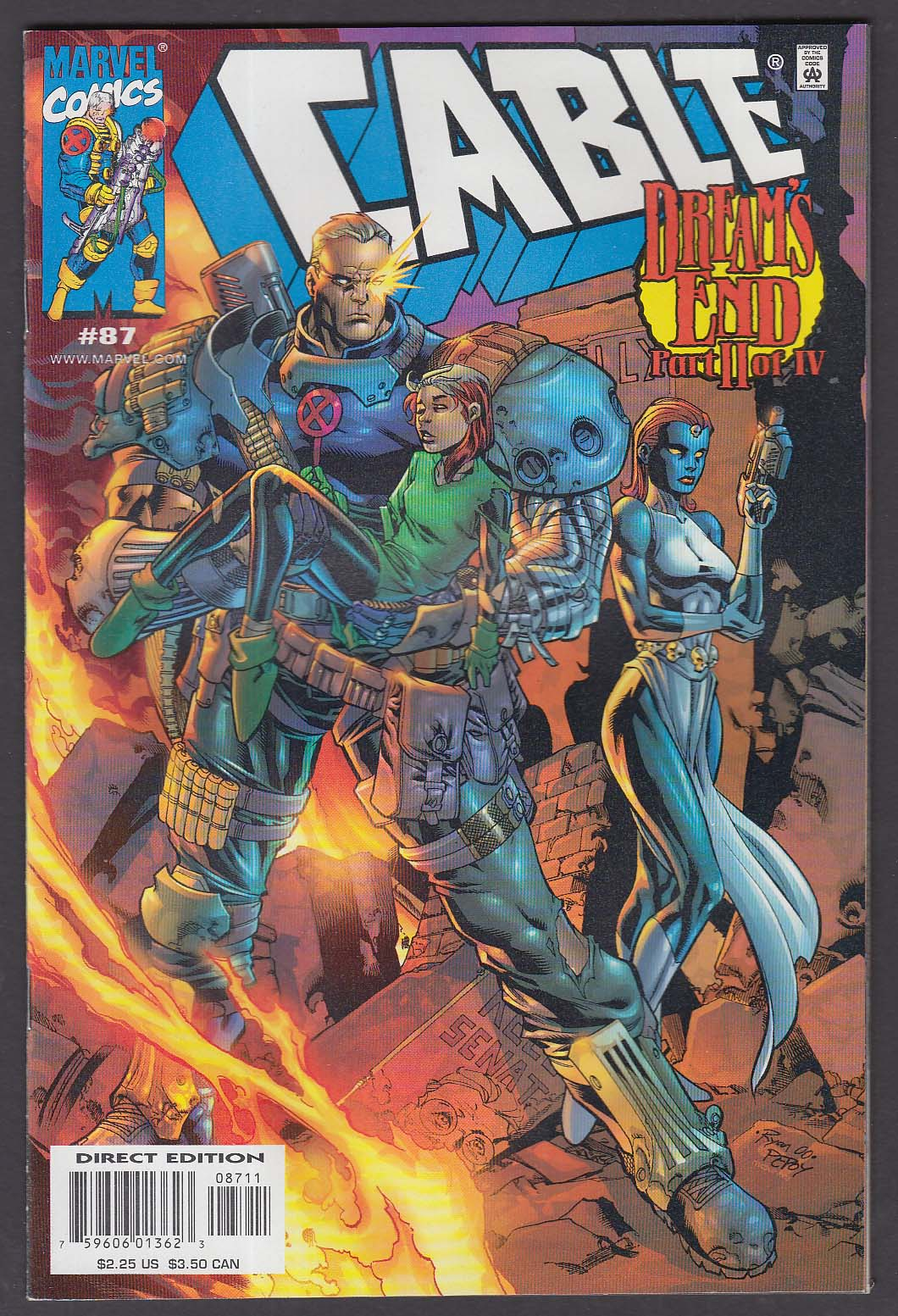 CABLE #87 Marvel comic book 1 2001