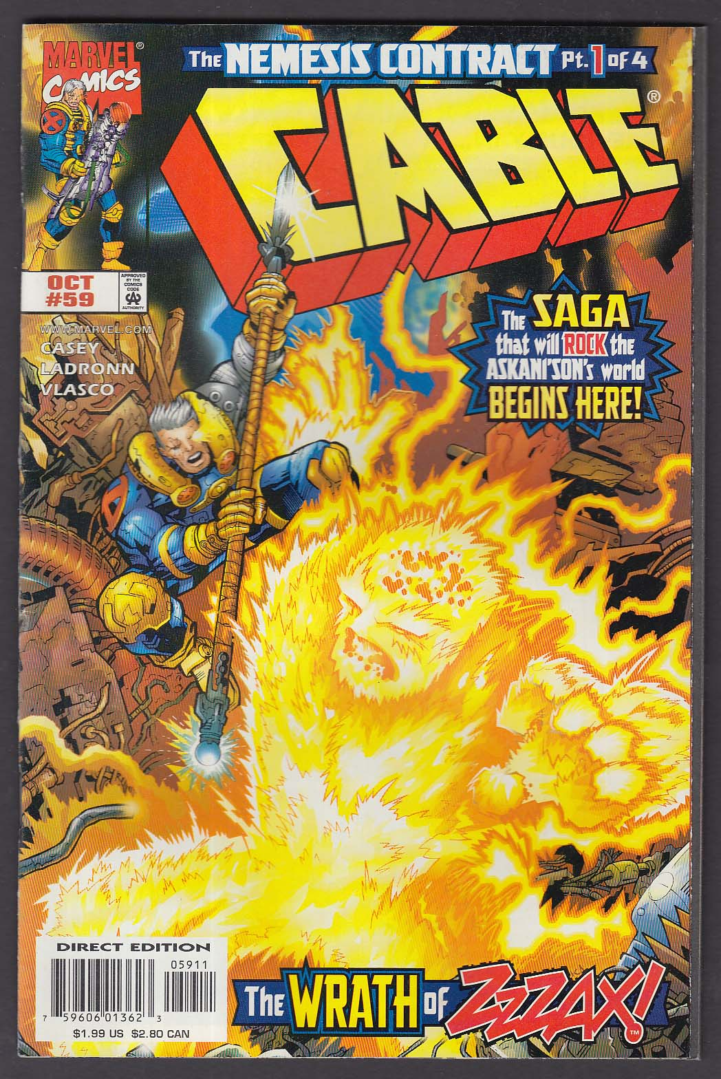 CABLE #59 Marvel comic book 10 1998
