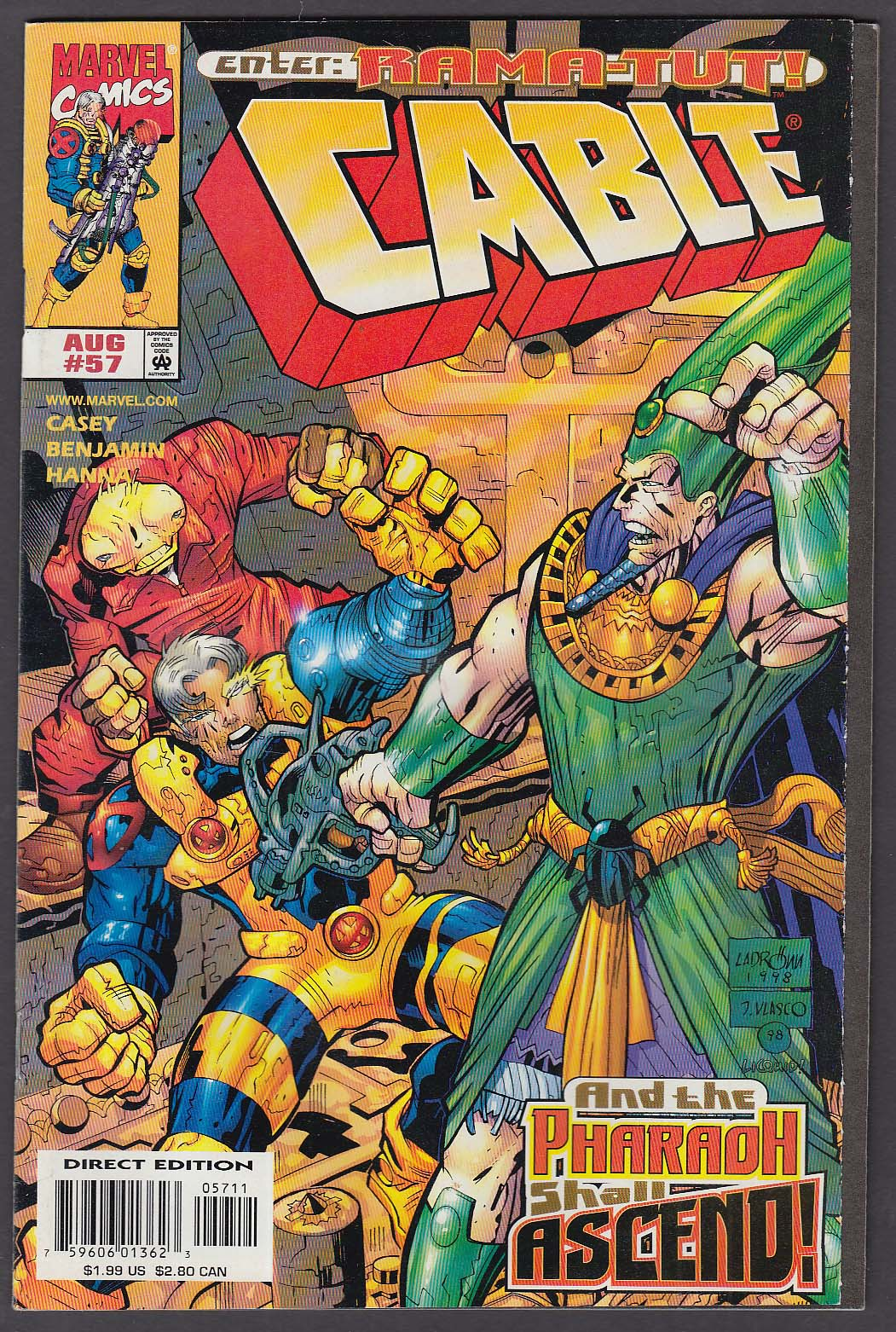 CABLE #57 Marvel comic book 8 1998