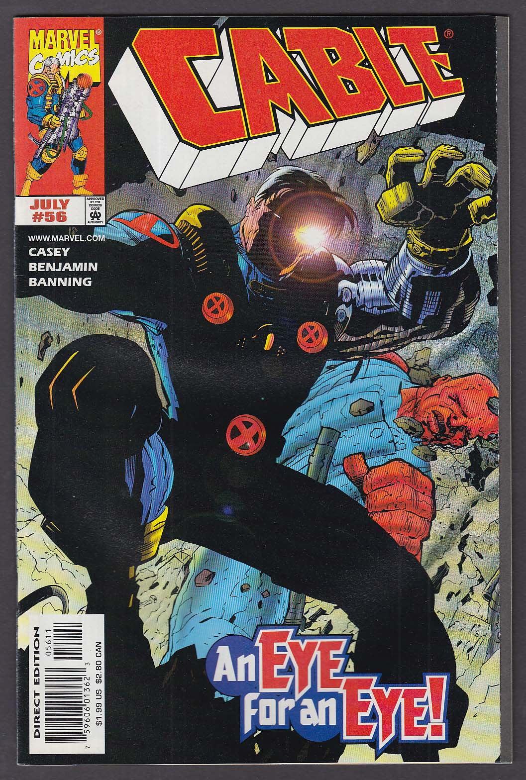 CABLE #56 Marvel comic book 7 1998