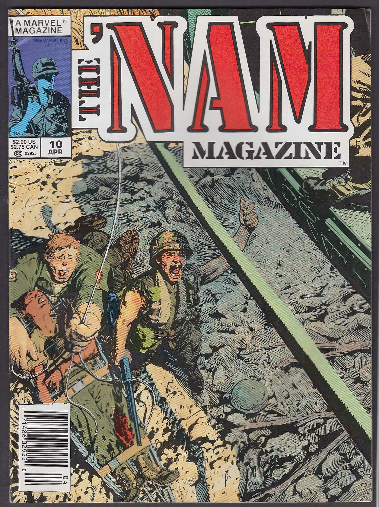 The 'NAM MAGAZINE #10 Marvel comic book 4 1989