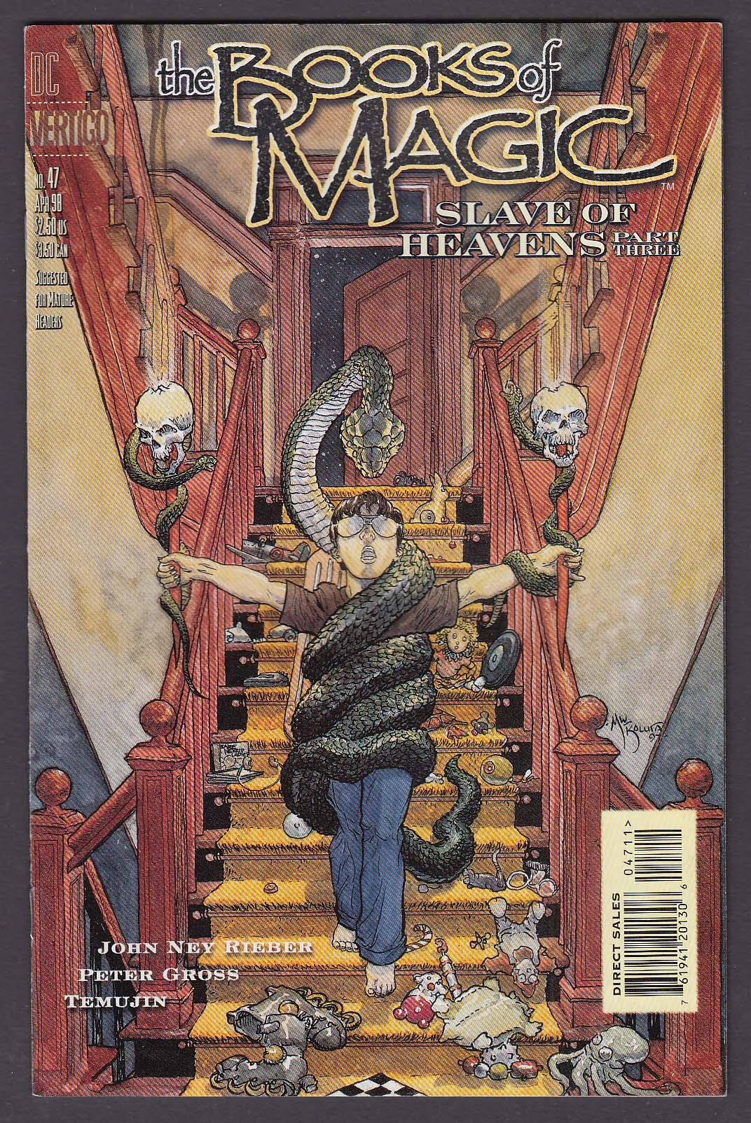 The BOOKS of MAGIC #47 DC Vertigo comic book 4 1998