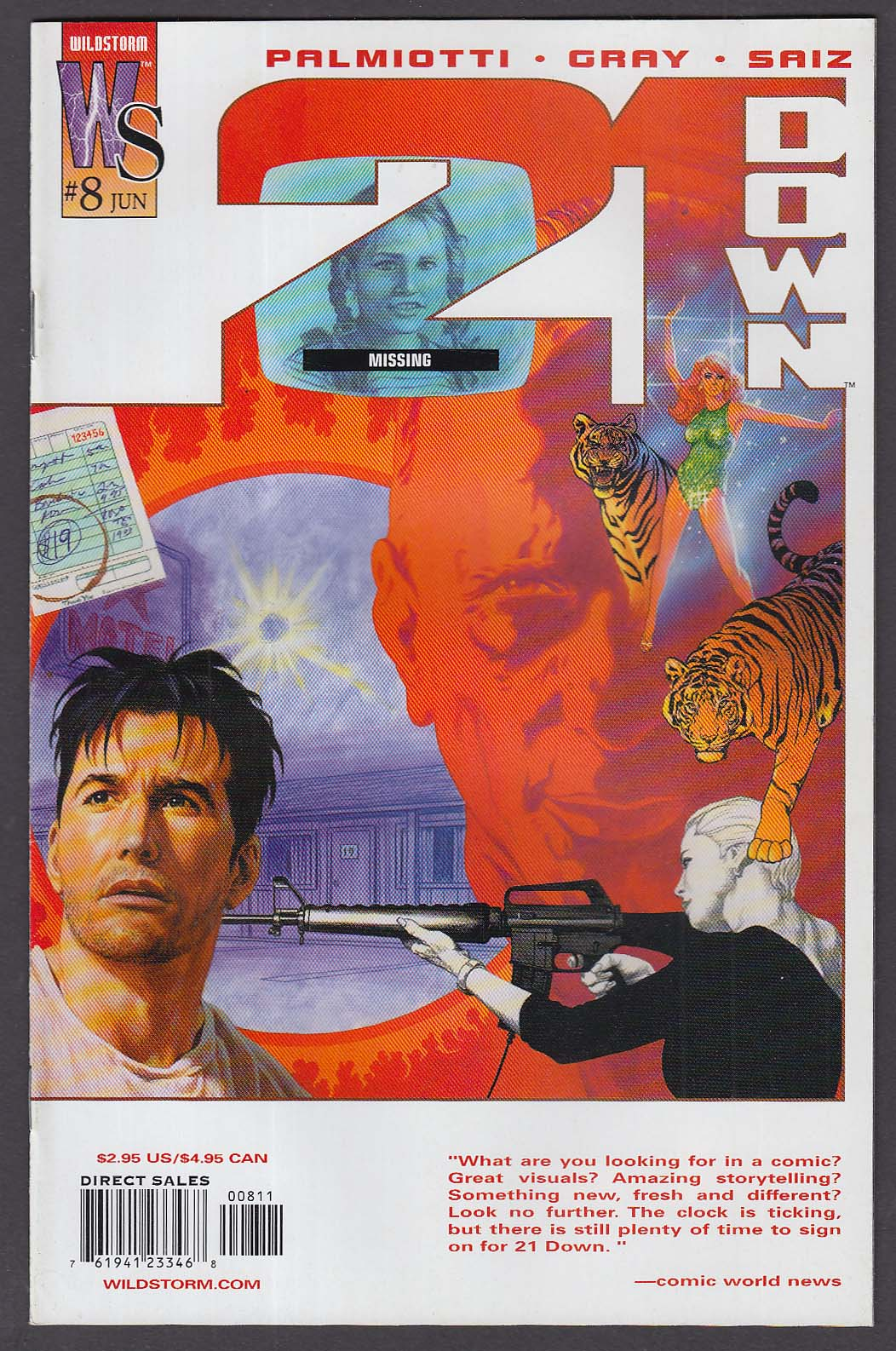 21 DOWN #8 WildStorm comic book 6 2003