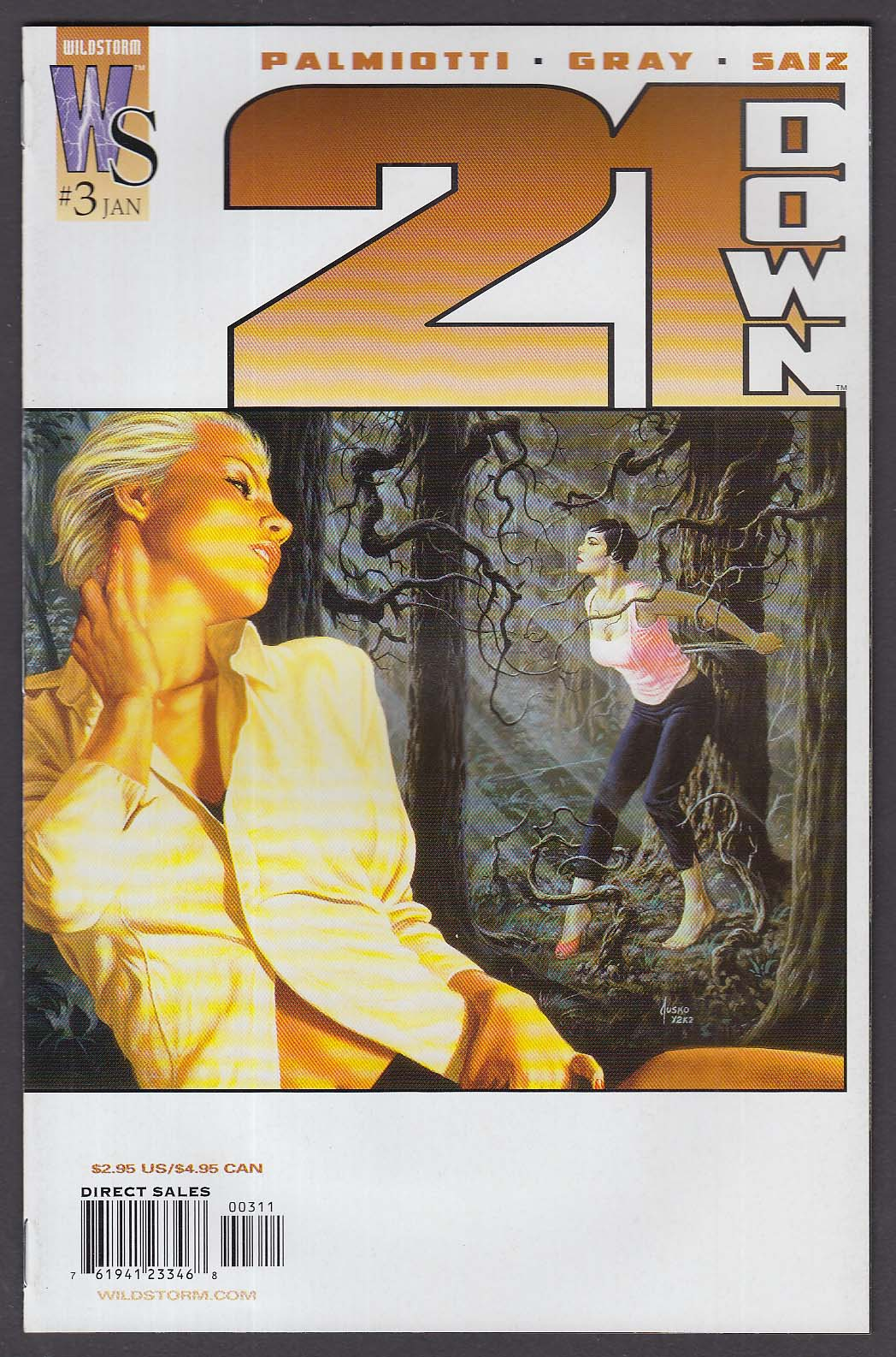 21 DOWN #3 WildStorm comic book 1 2003