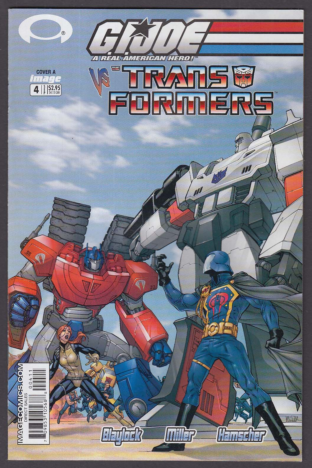 GI JOE vs TRANSFORMERS #4 Image comic book 9 2003 Cover A