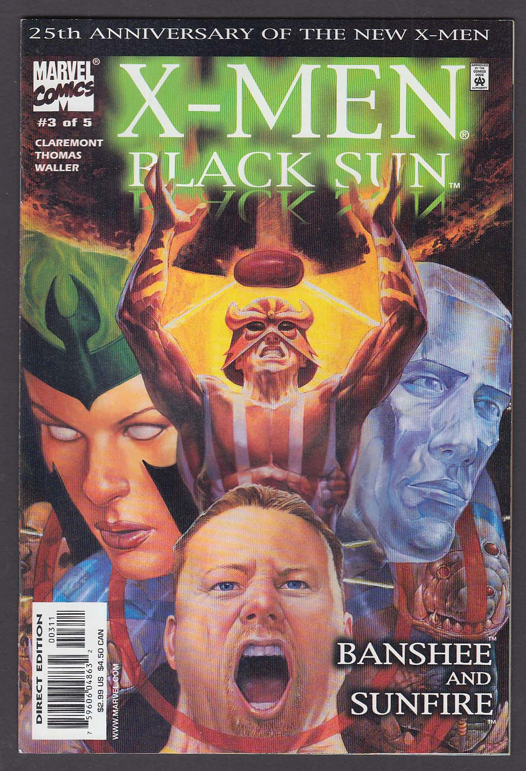 Black Sun: Banshee & Sunfire #3 Marvel comic book 11 2000 X-Men