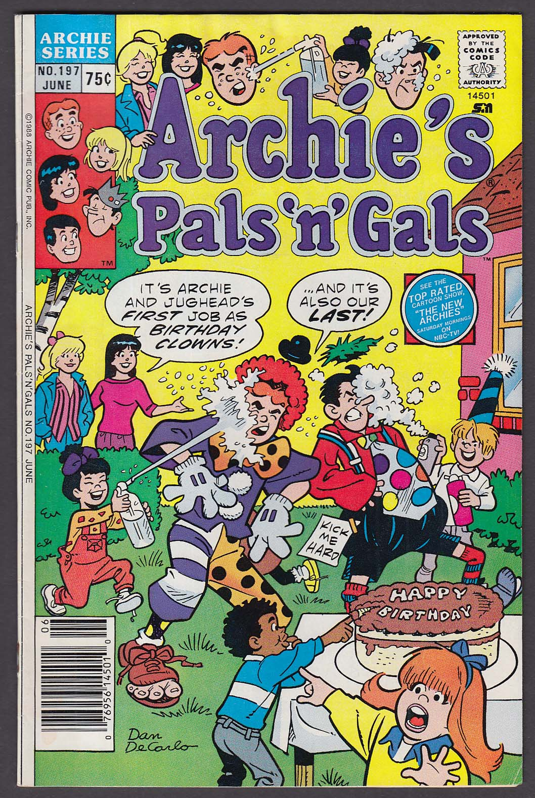 ARCHIE'S Pals 'n' Gals #197 Archie Series comic book 6 1988