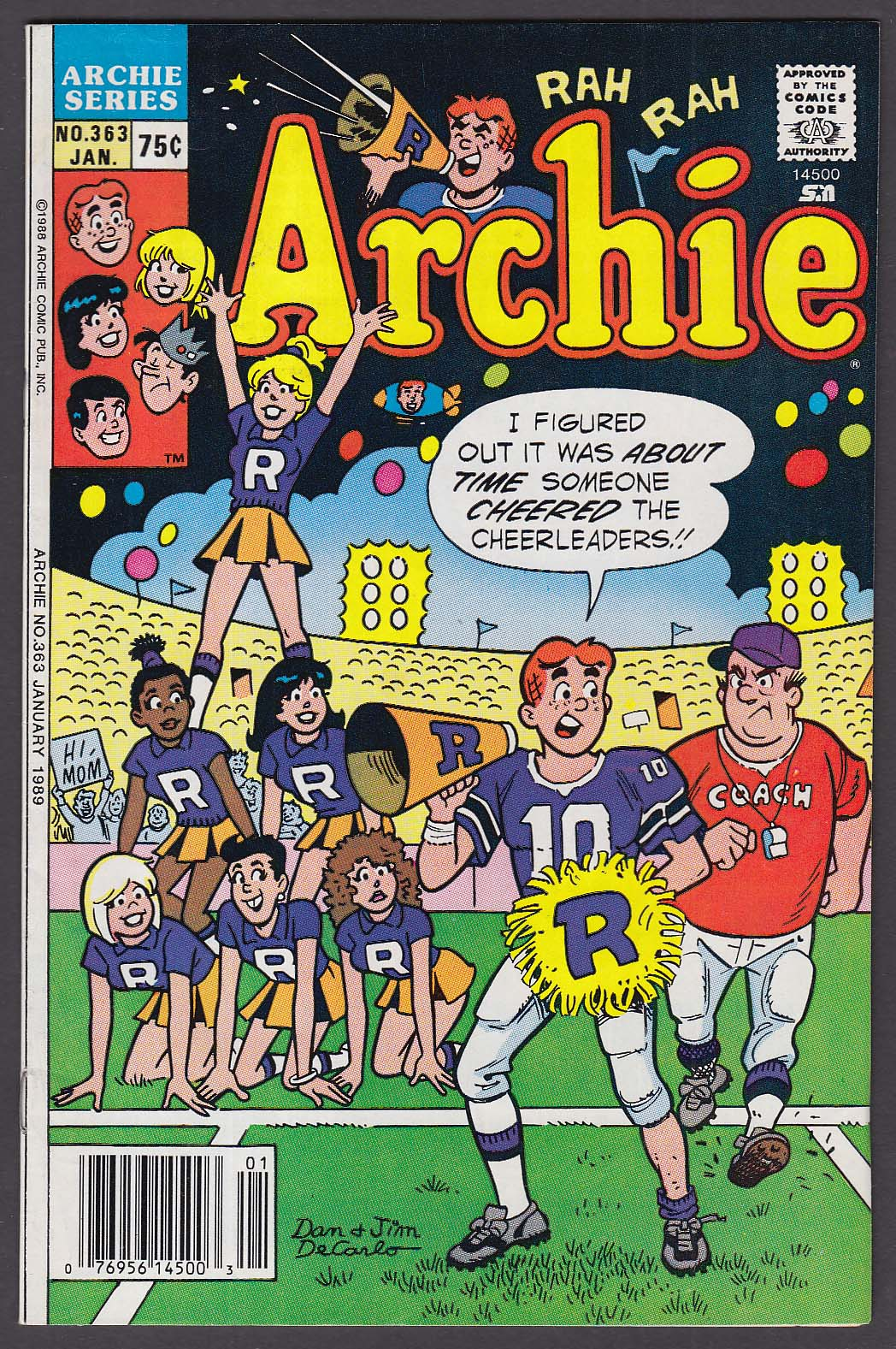 ARCHIE #363 comic book 1 1989