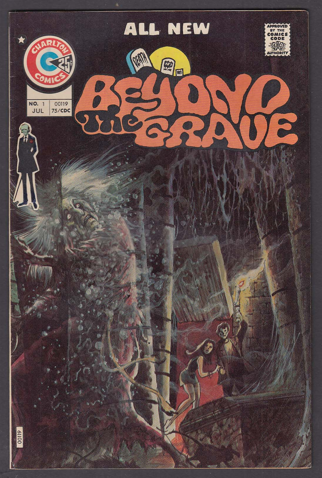 BEYOND THE GRAVE #1 Charlton comic book 7 1975