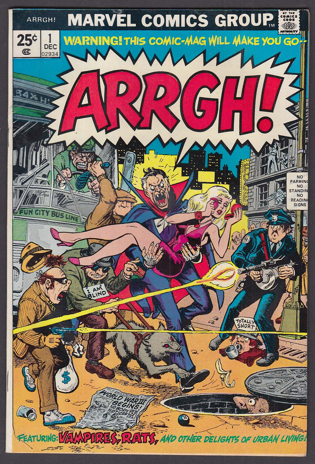 ARRGH Vol 1 #1 Marvel comic book 12 1974