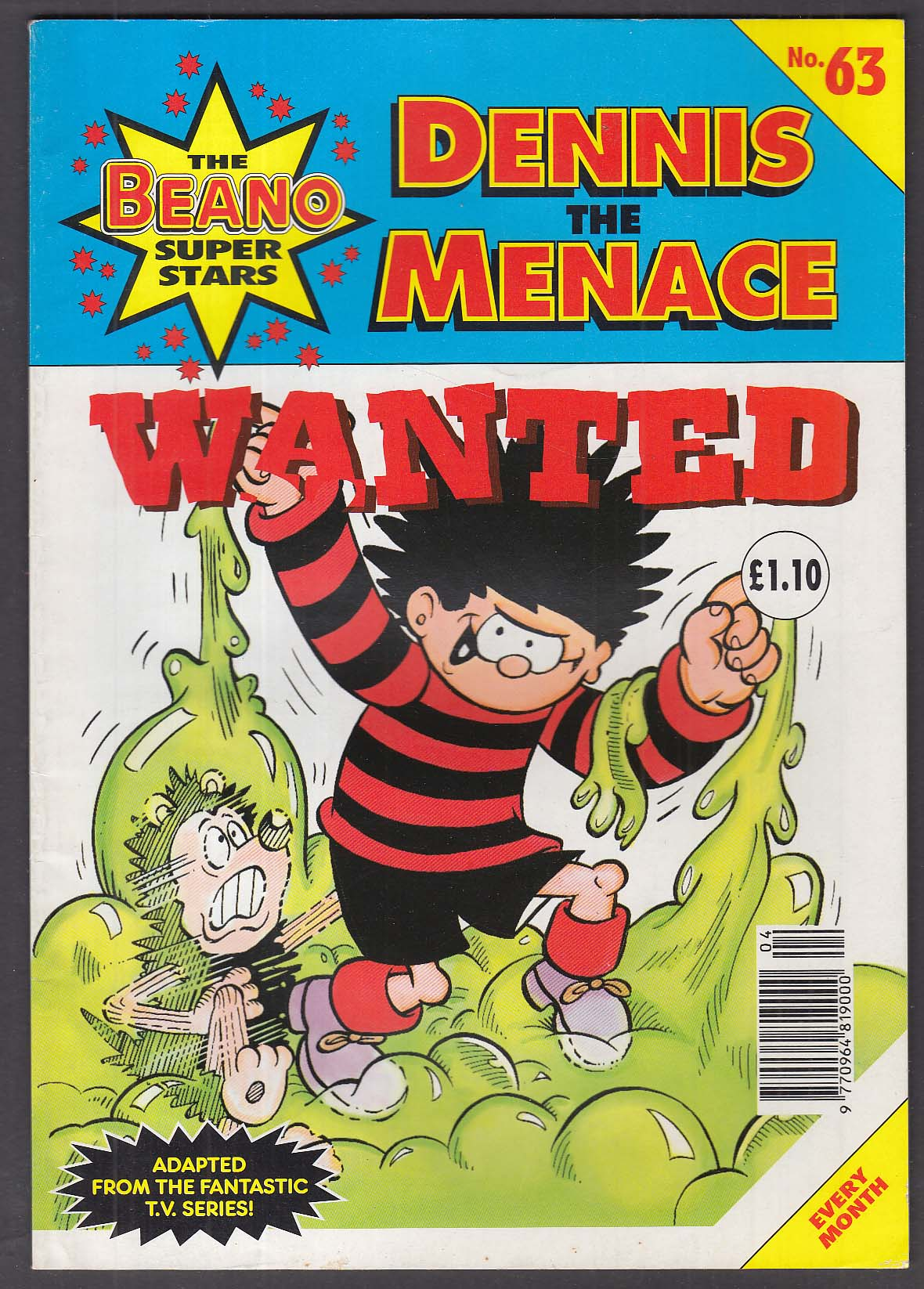 BEANO SUPERSTARS #63 Dennis the Menace UK comic book 1997