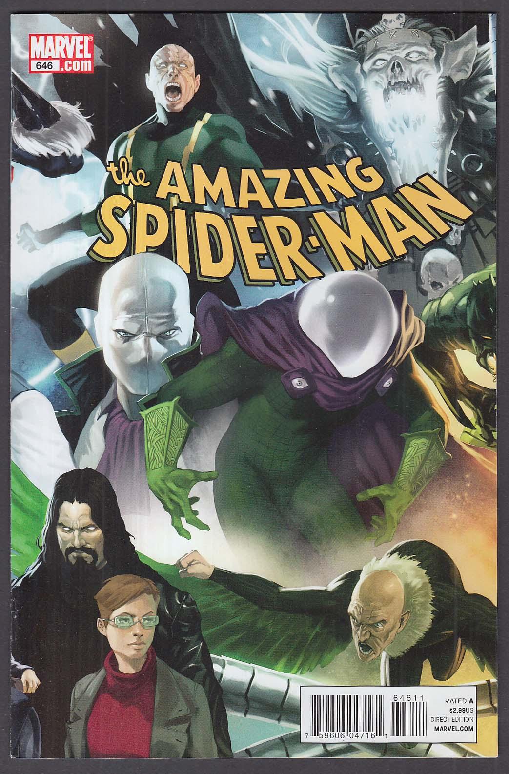 AMAZING SPIDER-MAN #646 Marvel comic book 12 2010