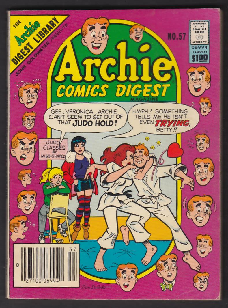 ARCHIE Comics Digest #57 comic book 12 1982 Dan DeCarlo