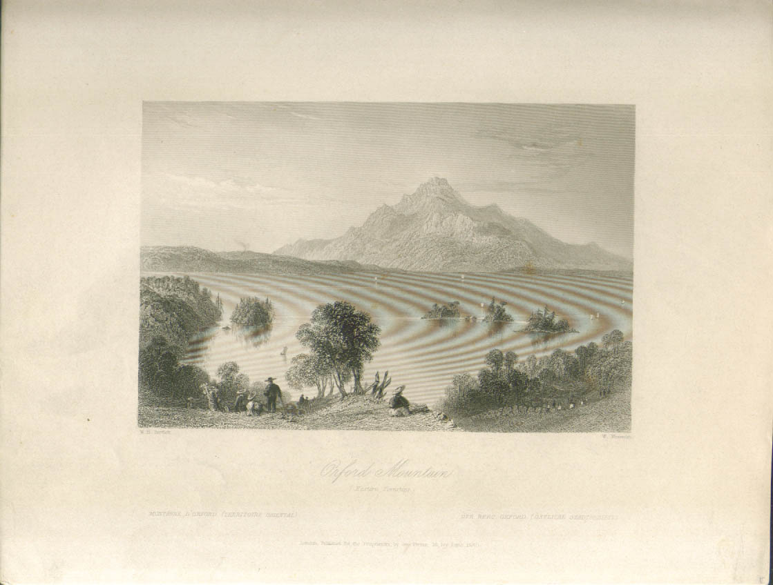Orford Mountain Quebec W H Bartlett engraving 1840