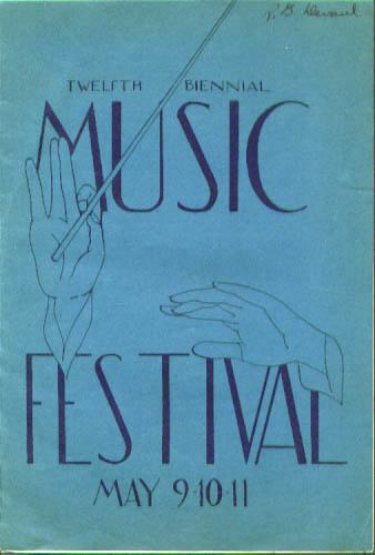 12th Milwaukee Music Festival program 1946