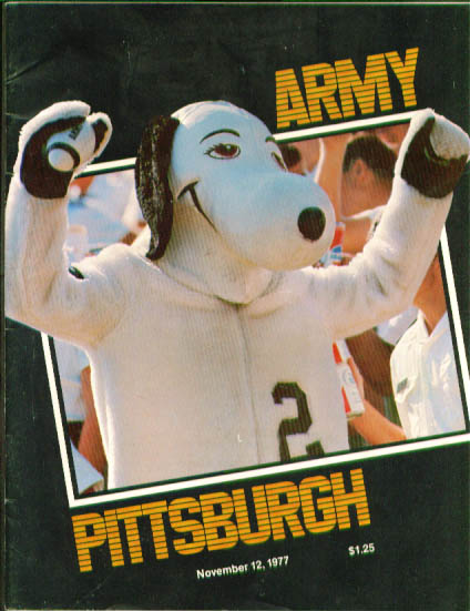 Army vs Pitt Football Program 11/12/1977