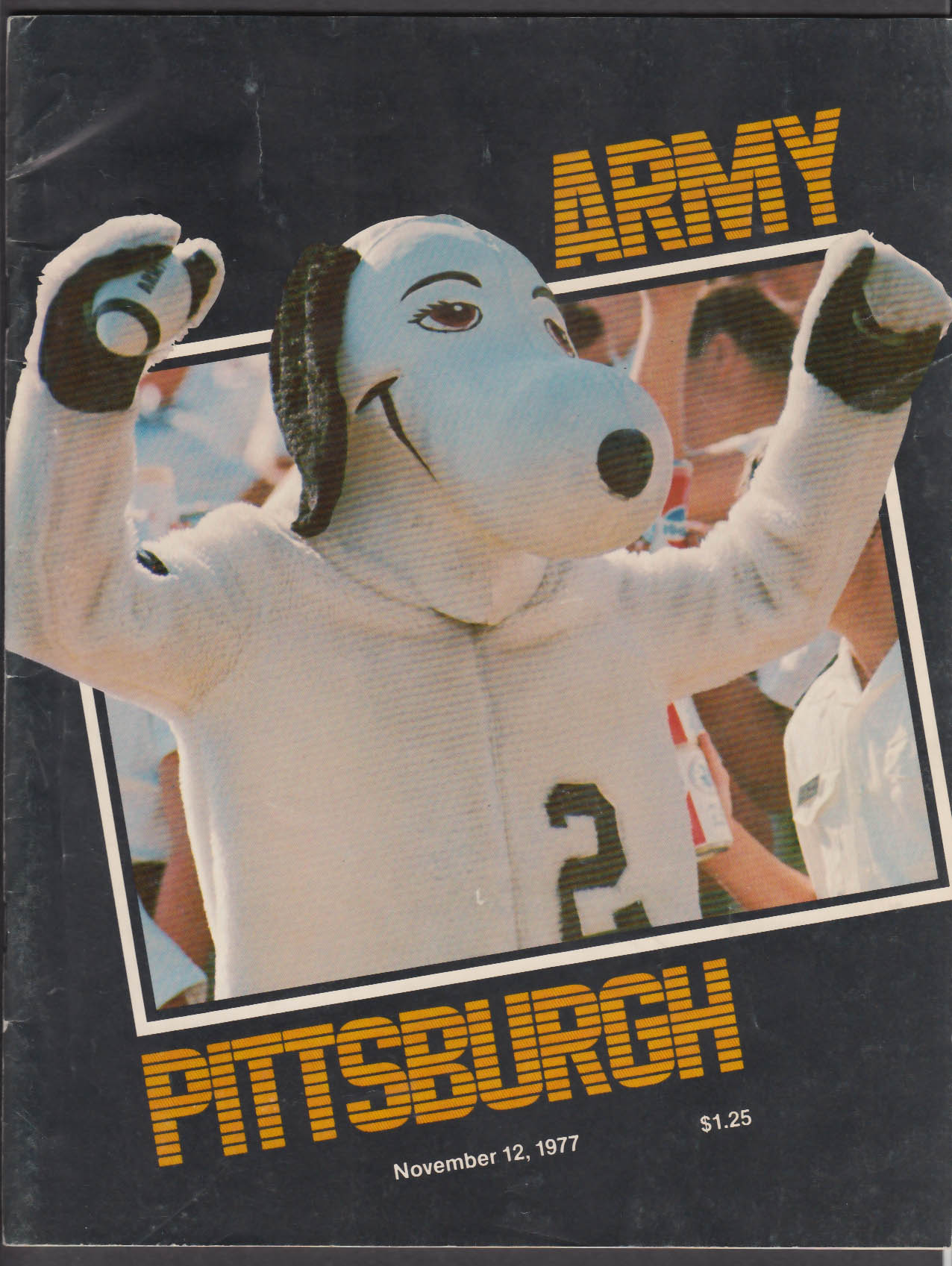 Army vs Pittsburgh Football Program 11/12/1977