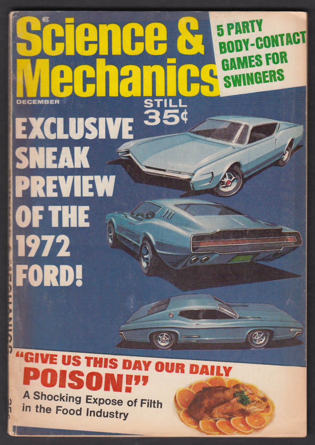 SCIENCE & MECHANICS Jaguar XK-E test BSA Rocket 1972 Ford sneak preview 12 1968