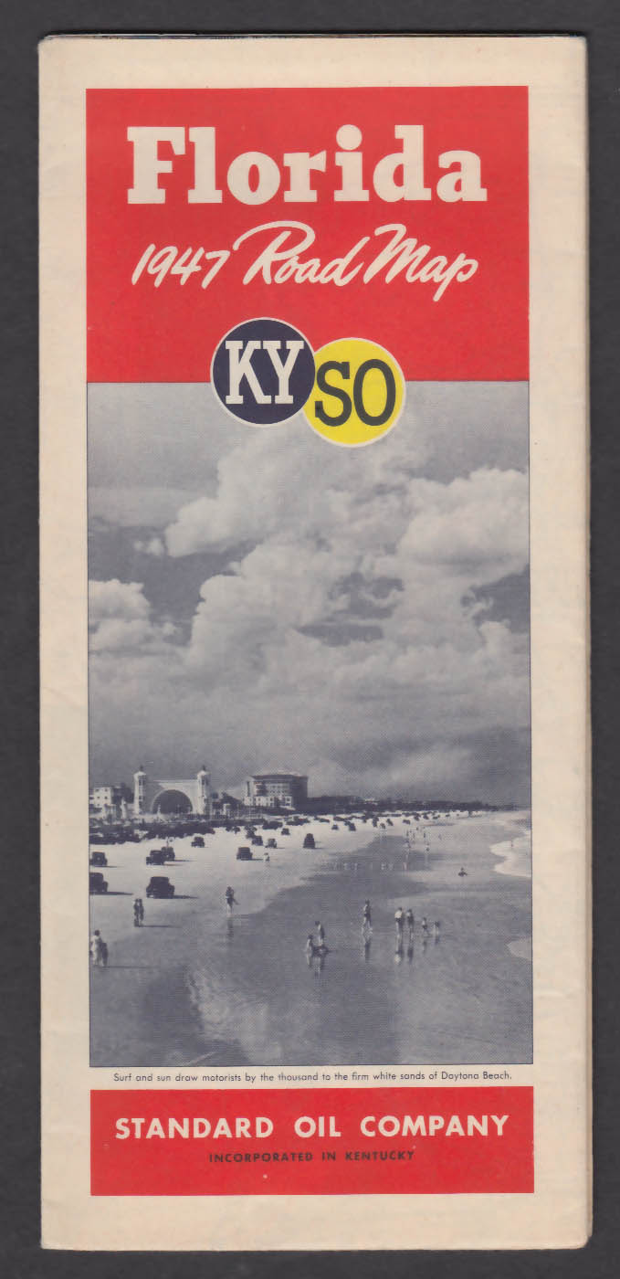 1947 KYSO Florida Road Map
