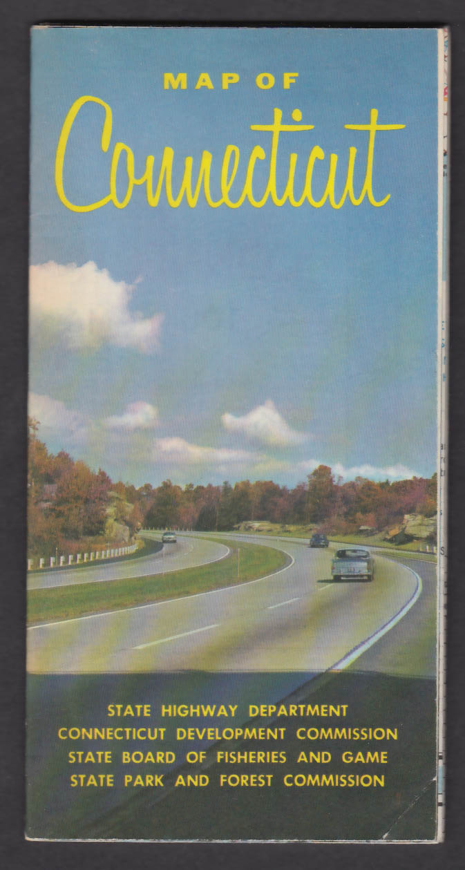 1962 Official Road Map of Connecticut
