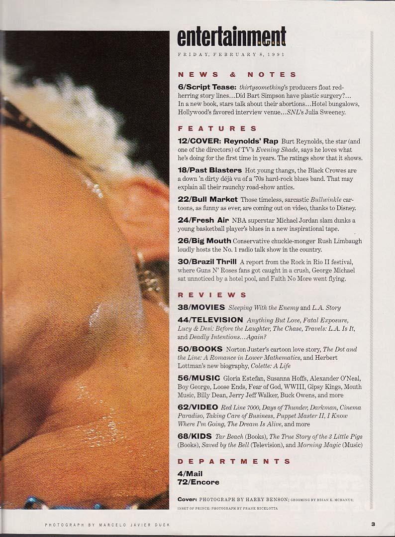Burt Reynolds Prince, etc: Ent Weekly 2/8/91