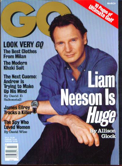 Liam Neeson Judith Godreche: GQ 3/1998