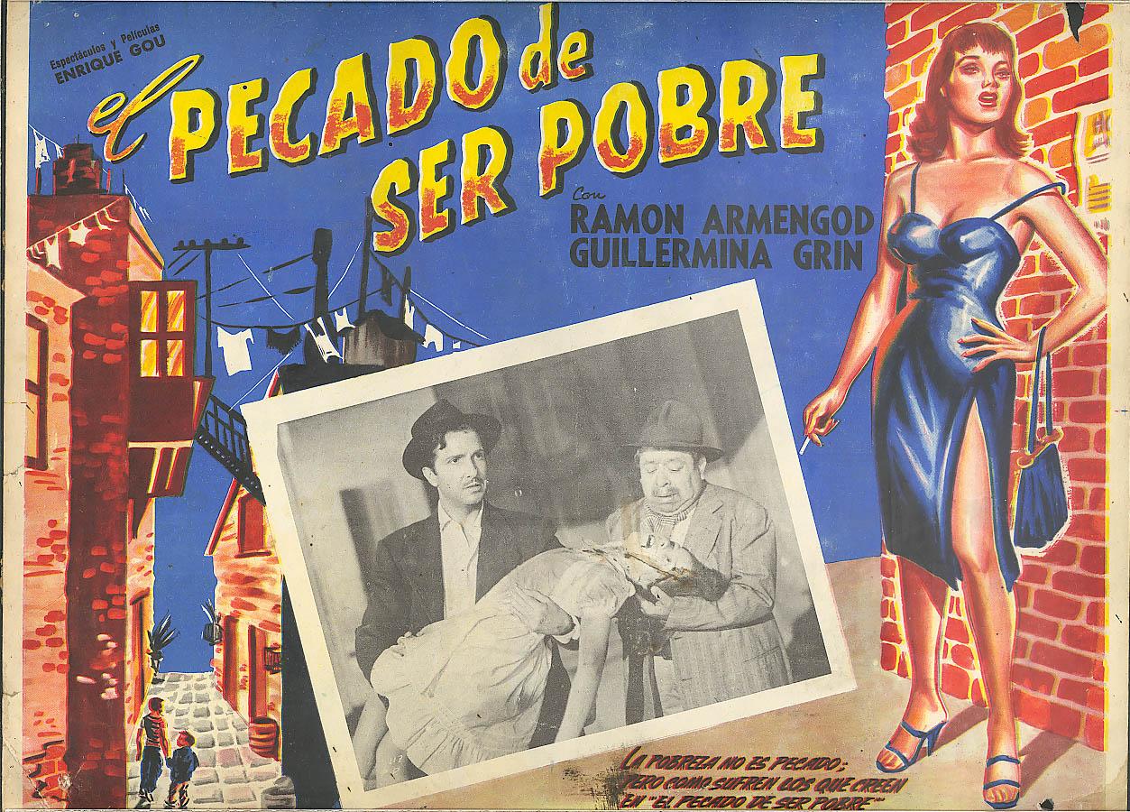 El Percado de Ser Pobre Mexico lobby card 1950
