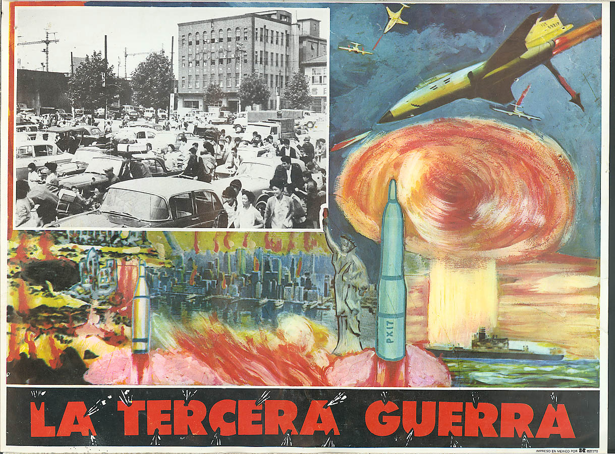 Image for La Tercera Guerra Japanese film Spanish lobby card 70s