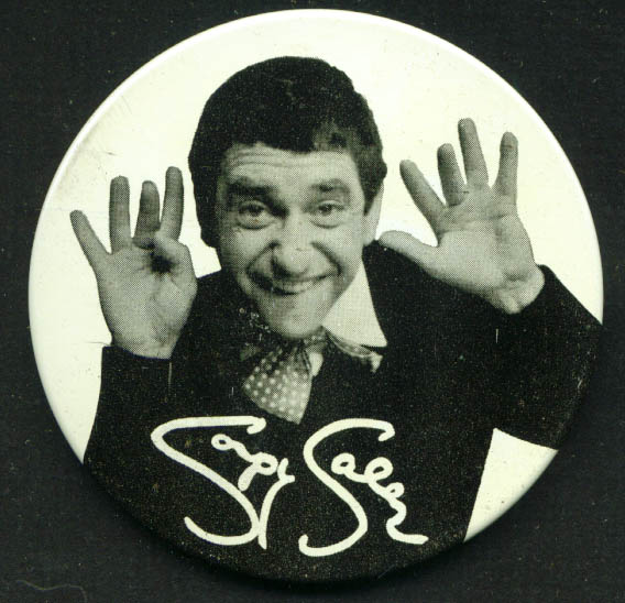 "Soupy Sales 3""  metal pinback 1965"