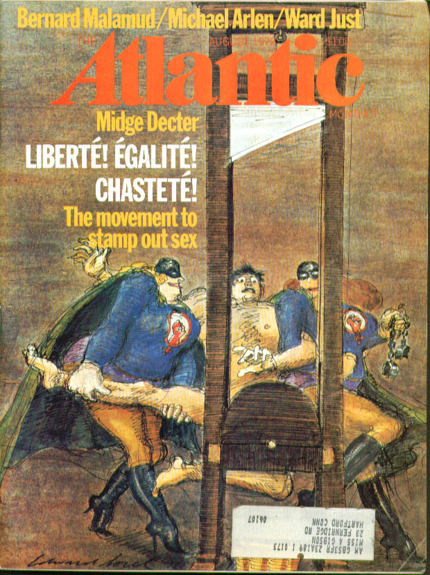 ATLANTIC Midge Decter Malamud Arlen Just  ++8 1972