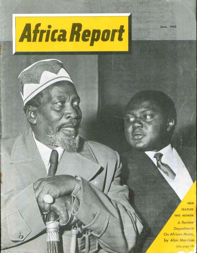 AFRICA REPORT Sierra Leone Kenya Nigeria Music of Africa + 6 1962
