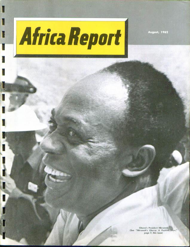 AFRICA REPORT Nkrumah Tsirinana Senegal Madagascar + 8 1962
