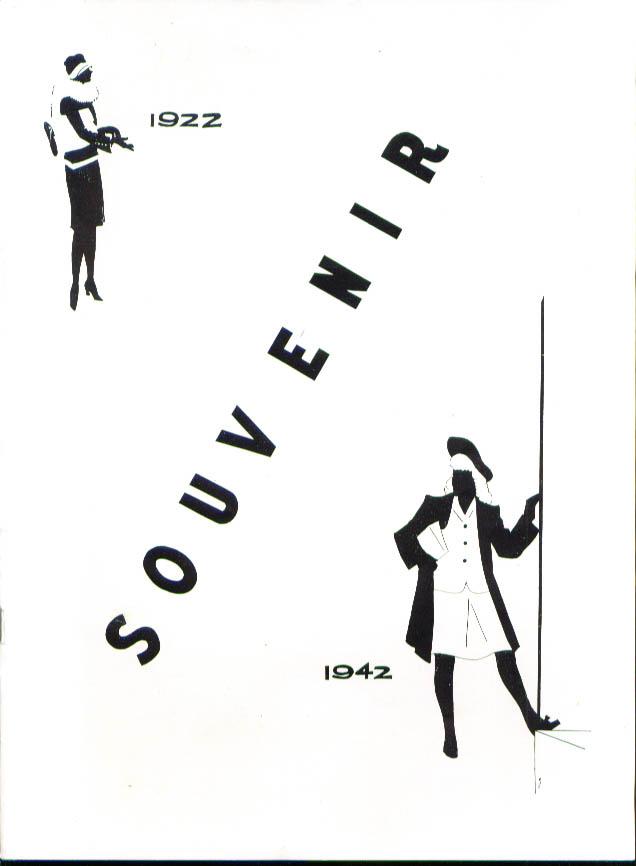 Girls Club Two Hartfords Souvenir Pageant program 1942
