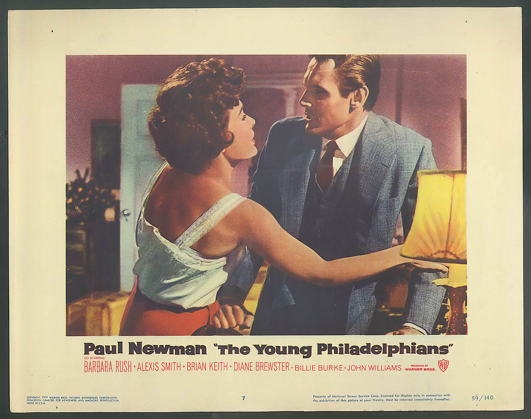 Image for Barbara Rush The Young Philadelphians lobby card 1959
