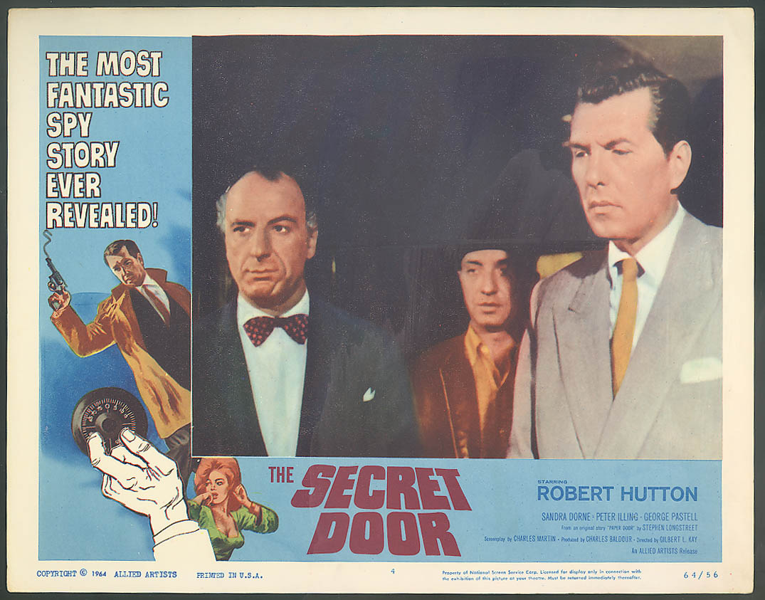 Image for Robert Hutton in The Secret Door lobby card 1964