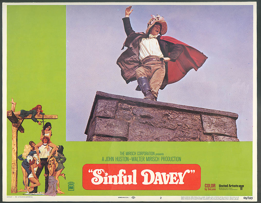 Image for John Hurt in Sinful Davey lobby card 1969