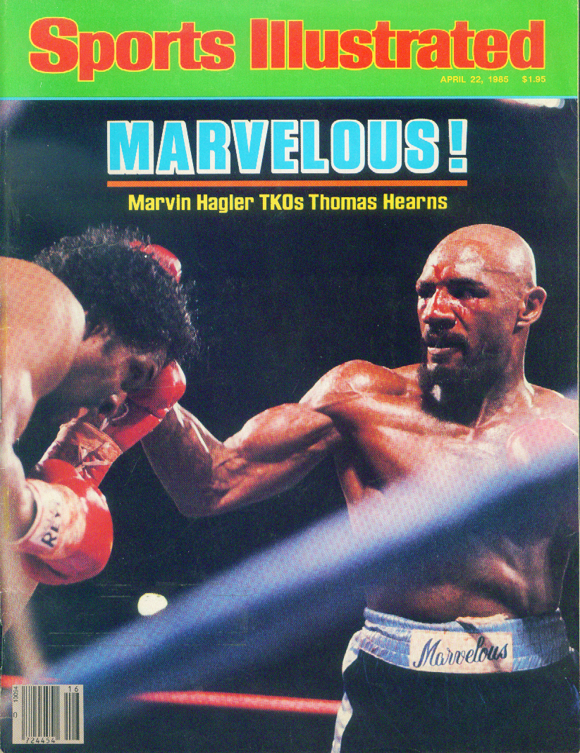 SPORTS ILLUSTRATED Marvin Hagler Thomas Hearns Bernhard Langer 4/22 1985