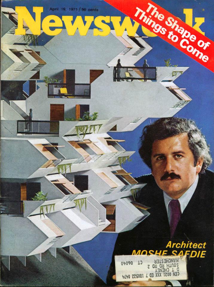 NEWSWEEK Architect Moshe Safdie + 4/19 1971