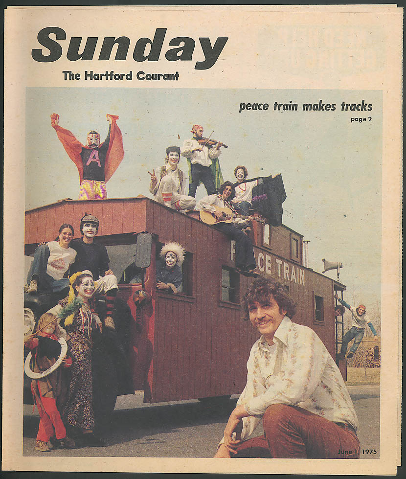 SUNDAY Hartford Courant Magazine The Peace Train 6/1 1975