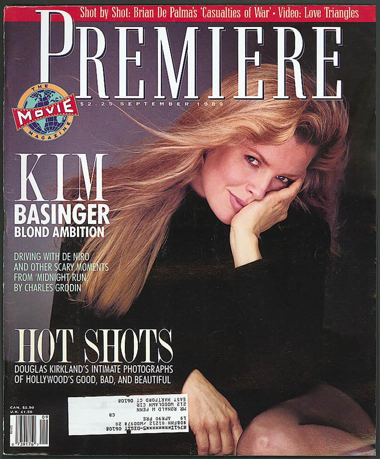 PREMIERE Kim Basinger Brian De Palma Robert De Niro Charles Grodin ++ 9 1989