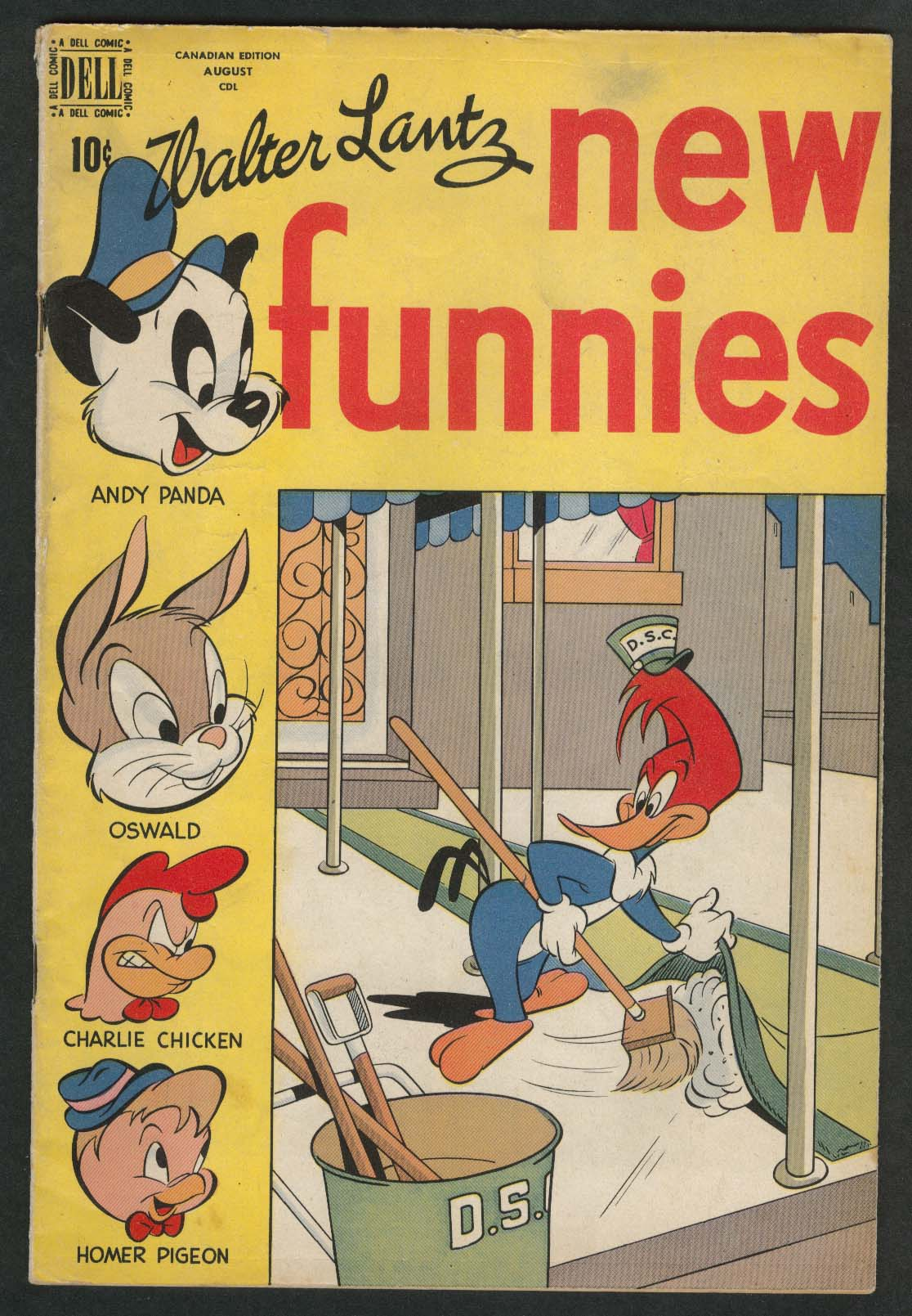 WALTER LANTZ New Funnies #148 Andy Panda Woody Woodpecker Dell comic book 8 1948